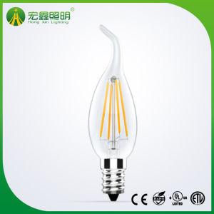 Lámpara de incandescencia Velas LED E12 2W E17 4W 6W regulable Bombilla de luz LED C35 2700K