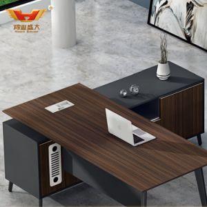 2019 Novo estilo de mobiliário de escritório executivo de forma L Secretária com certificado FSC mobiliário de escritório Contrato (LD-D0118)