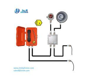 Operação altamente confiável linha analógica com certificação ATEX Telefone à prova de explosão