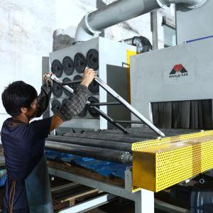 Авто Mayflay H света стальную пластину дробеструйная очистка машины с автоматическим роликовый конвейер систем