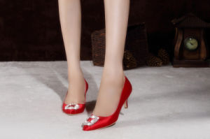 La moda clásica de la mujer de Tacón Zapatos de vestido de novia