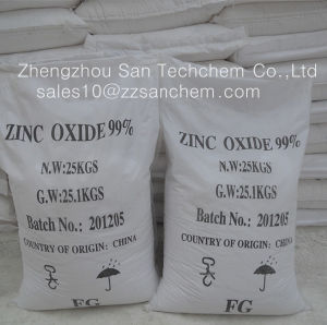 Het Zink oxyde-ZnO van de Hoge Zuiverheid van 99.7% voor Medisch, Kosmetisch, Industrieel, Elektrisch