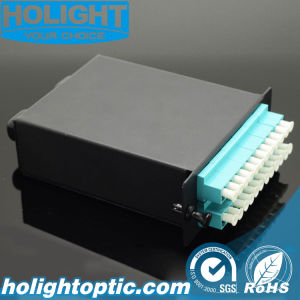 El 24 de fibras MPO a LC Módulo de fibra óptica Om3 Cassette