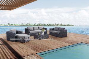 屋外の柳細工の庭の家具のテラスの余暇のソファーの一定の樹脂の枝編み細工品