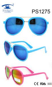 Quadros de venda mais vendidos Óculos de sol de plástico para crianças coloridas (PS1275)