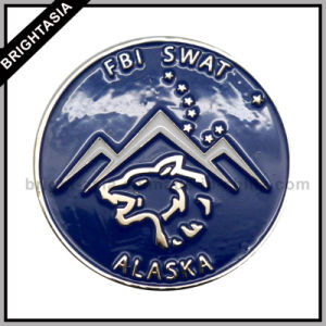 Security Emblem (BYH-10519)のためのFbi Swat Enamelメタルピン