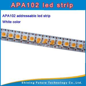 Apa102 LED Strip 30LED 60LED 144LED Pixel Tape Black/White Flexible PWB-PWB Apa102 White LED Strip Apa102 144 LED Pixel Strip