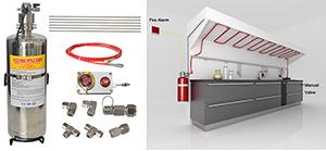 Küche des Gaststätte-Feuer-Ausgleich-Systems von der Pri-Sicherheit