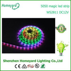 Led de 60 LED 5050 de la luz de lámina flexible de WS2811