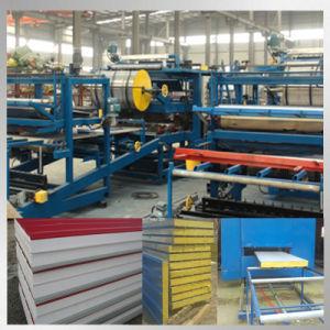 Panneau sandwich Ligne de production de tuiles du toit de métal