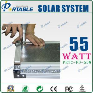 Portátil 55W Sistema de energía solar con la varilla y la rueda (PETC-FD-55W)