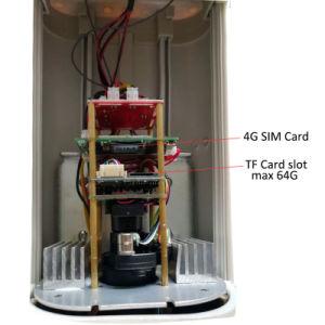 draadloze ZonneGSM 1080P 3G/4G OpenluchtIP van het Alarm Camera Op batterijen