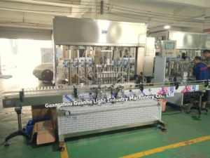 Máquina de enchimento líquido Auto Top-Quality com enchimento Piston-Type