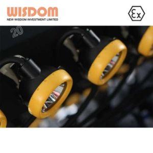 Wisom Atexのセリウム公認28000lux Kl12ms-02 LED抗夫の安全ヘッドランプ