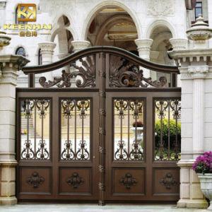 Cancello di alluminio architettonico della rete fissa del giardino della villa