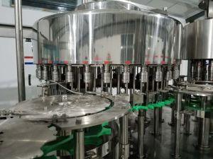 Bebida de jugo de agua de bebida carbonatada de embotellado de agua potable bloque mono automático de llenado el aumento de la planta de empaque etiquetado tapadora máquina