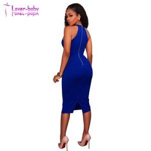 Anica Royal-Blue Strappy Halter cou robe L36128
