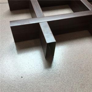 0.3mm Stärken-dekorative Puder-Beschichtung Aluminumceiling Fliese verschobene Panels