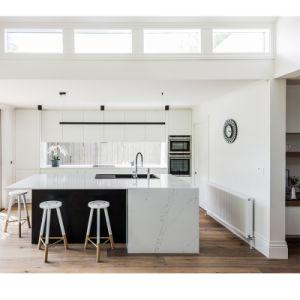 アメリカのプロジェクトの白いラッカーMDFの食器棚