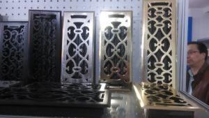 Gebogenes Schaufel-Einwegregister-Stahlserien-Luft-Gitter