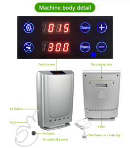 Tischplattenplasma-Luft-Reinigungsapparat mit dem Ozon-Wasser-Reinigung-Cer genehmigt
