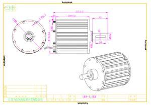 1kw 48V 축 유출 영구 자석 전동 발전기