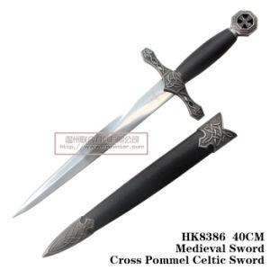 ヨーロッパの短剣の歴史的短剣の金属は40cmを制作する
