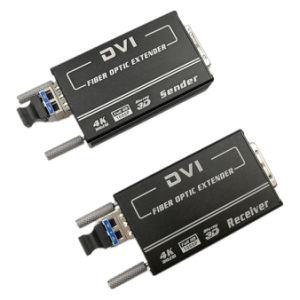 Mini carica di DVI sopra la trasmissione della fibra HD 4K