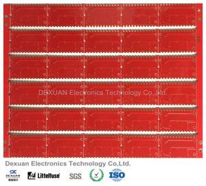 Hochwertige gedrucktes Leiterplatte PCB/PCBA mit roter Lötmittel-Schablone