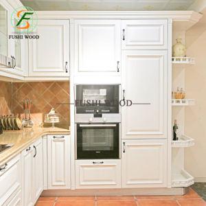 Moderner Entwurfs-festes Holz-Küche-Großhandelsschrank