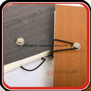 Botão de metal Encerramento Debossed PU Notebook diário