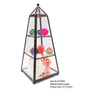 Nieuw kom Doos van de Juwelen van het Glas van het Kristal van de Vorm van de Toren de Mooie aan