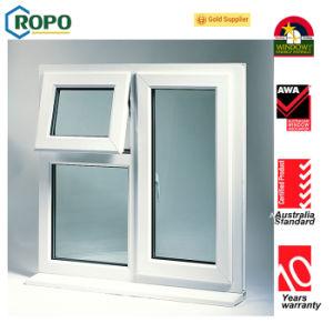 El plástico Casement ventana, ventana de PVC de doble acristalamiento toldo
