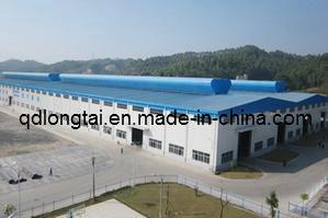 La estructura de acero de construcción de almacén