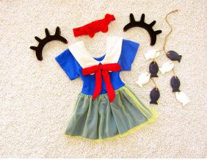 帽子が付いている王女高品質の方法赤ん坊の水着の女の子の二つの部分から成った水着