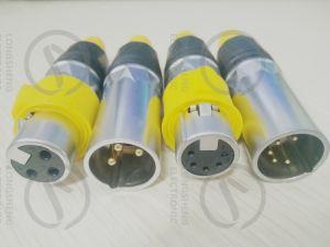 Водонепроницаемый кабельный разъем Cannon 3-контактный гнездовой разъем XLR для микрофона IP65