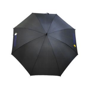 고품질 큰 방풍 까만 골프 우산 승진 섬유유리 우산
