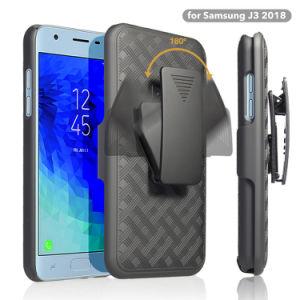 中国のクリップ及びKickstandのSamsung J3 2018年のための卸し売り電話箱