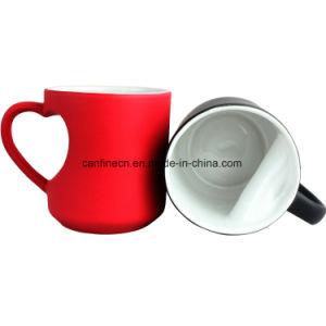 Mudança de cor preto vermelho caneca, coração amante Cup, a magia de cor caneca sublimação, capa do Dia dos Namorados casamento dom