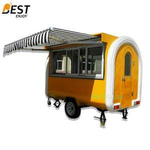 ファースト・フードのための280X170cmの可動装置のガラス繊維の食糧トレーラー