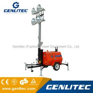 torretta chiara mobile del generatore del motore diesel di 6kw Kubota con gli indicatori luminosi 4*1000W