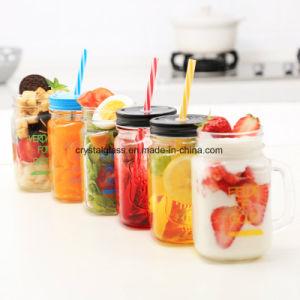Nahrungsmittelgrad-Glasbier-trinkender Becher mit Griff