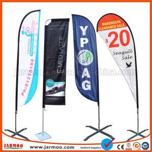 Bandiera su ordinazione poco costosa della bandierina di spiaggia di volo della piuma del Teardrop del poliestere di stampa