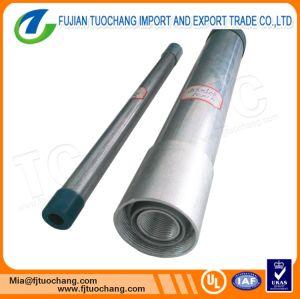 Tubo d'acciaio galvanizzato A53 di BS1387 ASTM con filettato e coppia