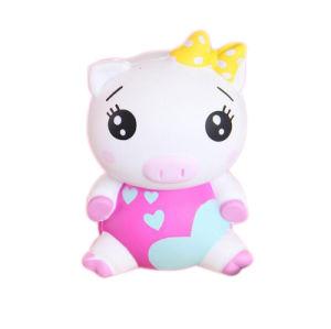 Fumetto animale Squishy Squishies aumentante delicatamente lento del maiale 3D della ragazza del giocattolo di compressione enorme