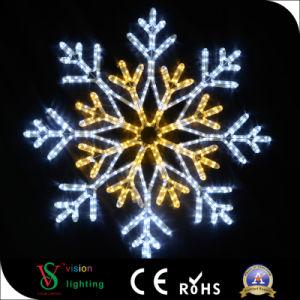 Des Fabrik-Zubehör-LED Schneeflocke-Seil-Licht Weihnachtsder dekoration-LED