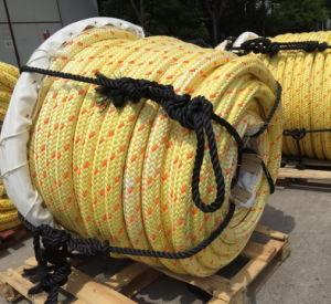Le revêtement en polyester 12 Strand Hmpe UHMWPE synthétique/nylon corde de remorquage maritime pour l'amarrage au large des côtes