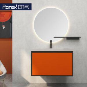 Madera maciza de pared simple combinación Mountained moderno cuarto de baño