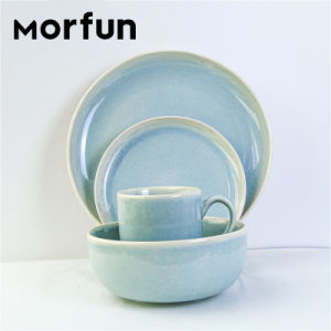 Barato al por mayor juego de vajilla de porcelana de cerámicas de la placa de diseño floral de platos de lujo Las placas blancas establece