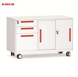 Preço barato Bens móveis 3 rolo de gaveta porta metálica de aço pequena armazenagem armário de arquivos